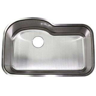 Stainless Steel 18 gauge 32-inch Undermount Single-bowl Kitchen Sink