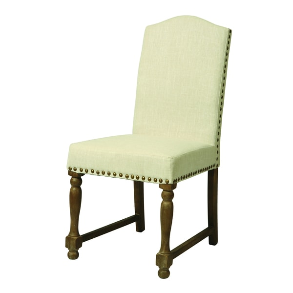 Vollpension Distressed Charcoal/ Linen Dining Chair