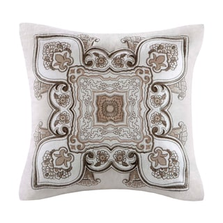 Echo 'Odyssey' Square Cotton Embroidered Applique Pillow