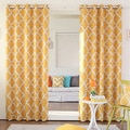 Moroccan Tile Room Darkening Grommet Top 84-inch Curtain Panel Pair
