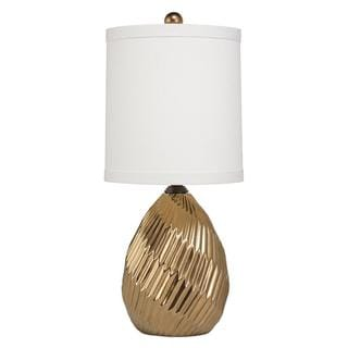 Single-light Metallic Brass Ceramic Table Lamp