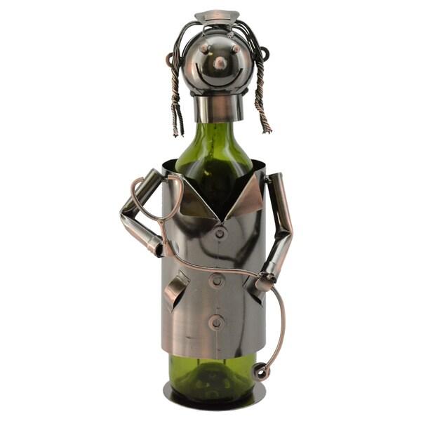 WineBodies Nurse in Bronze Metal Wine Bottle Holder