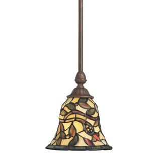 Tiffany-style 1-light Sedona Bronze Mini Pendant