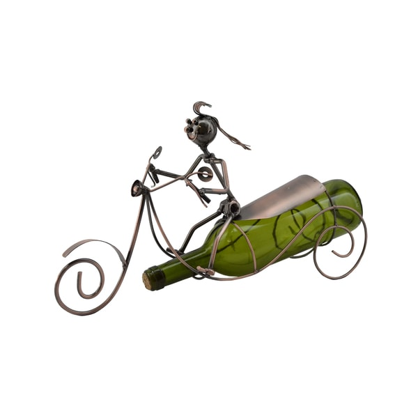 WineBodies Bronze Metal Scooter Wine Bottle Holder