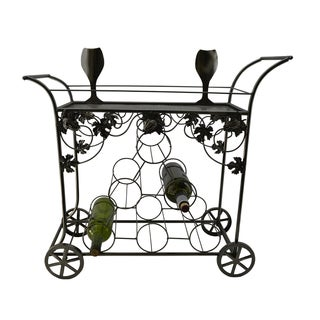WineBodies Metal Serving Cart 6-bottle Wine Holder