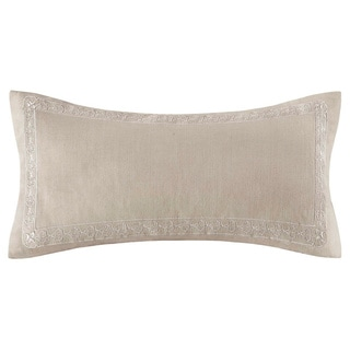 Echo 'Odyssey' Oblong Khaki Cotton Pillow