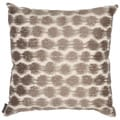 Echo 'Odyssey' Square Brown/ Ivory Throw Pillow