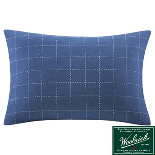 Woolrich 'Lake Side' Oblong Blue Cotton Pillow