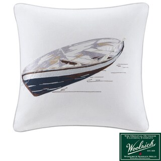 Woolrich 'Lake Side' Square Ivory Cotton Pillow