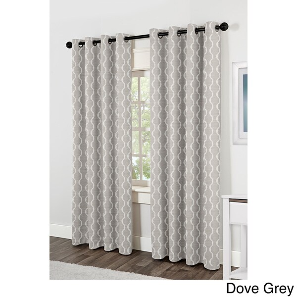 Baroque Grommet Top Curtain Panel Pair