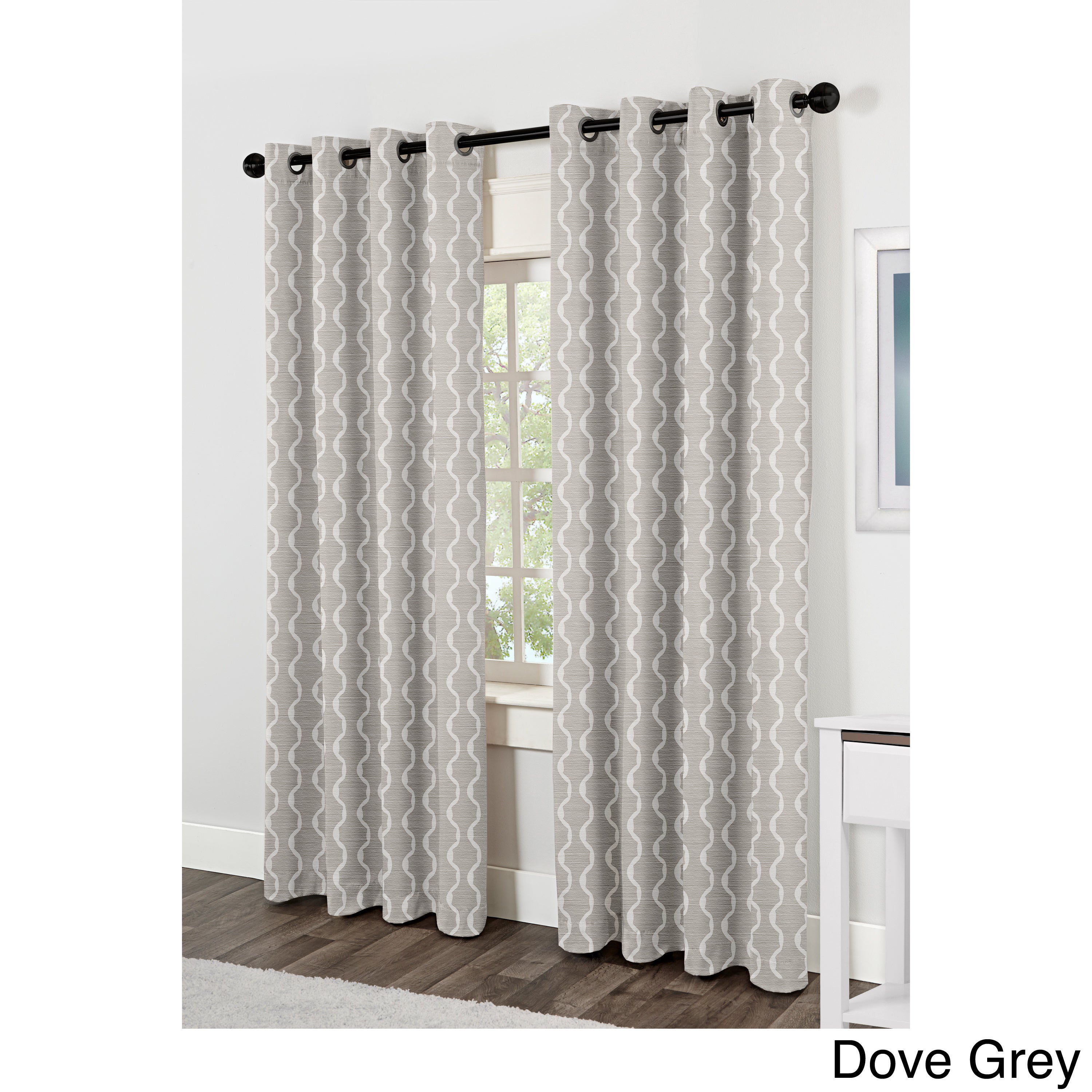Baroque Grommet Top 84 Inch Curtain Panel Pair Overstock Shopping Great Deals On Curtains