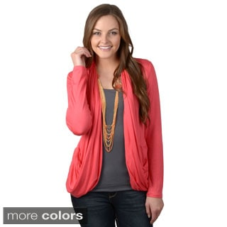 Journee Collection Women's Draped Open Front Cardigan