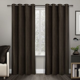 Crete Thermal Insulated Grommet Top 84 inch Curtain Panel Pair