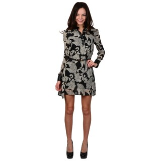 Hailey Jeans Co. Junior's Long Sleeve Belted Tunic Dress