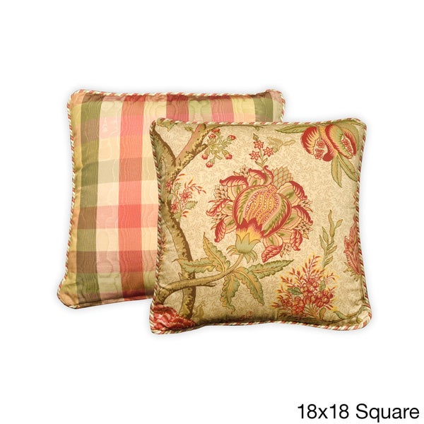 Rose Tree Decorative Pillows : Summerton Floral Cotton Throw Pillow - 16117384 - Overstock Shopping - Great Deals on Rose Tree ...