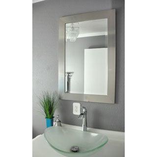 Rayne Wide Silver American-made Wall Mirror