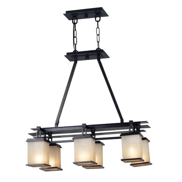 abriella 6 light island oil rubbed bronze hanging fixture