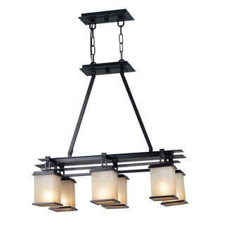 Abriella 6-light Island Oil Rubbed Bronze Hanging Fixture