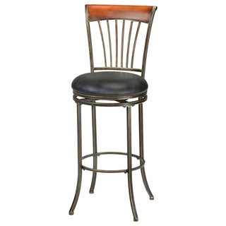 Riley Black-Gold Finish Bar Stool