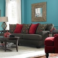 Westport Walnut Upholstered Sofa