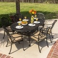 Rosedown Bronze Cast Aluminum 7-piece Patio Furniture Set