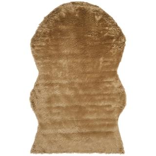 Safavieh Handmade Faux Sheep Skin Camel Acrylic Rug (6' x 9')