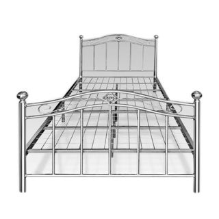 Complete Platform Polished Chrome Metal Bed Frame