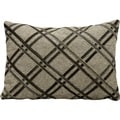 Nourison Mina Victory Natural Leather and Hide 14 x 20-inch Throw Pillow