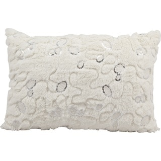 Nourison Mina Victory White 14 x 20-inch Faux Fur Throw Pillow