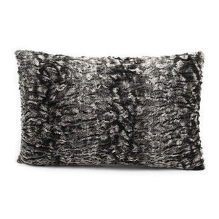 Nourison Mina Victory 12 x 18-inch Grey Faux Fur Throw Pillow