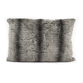 Nourison Mina Victory 12 x 18-inch Striped Faux Fur Throw Pillow