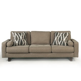 Signature Design by Ashley Treylan Smoke Sofa and Accent Pillows