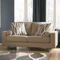Signature Design by Ashley Treylan Smoke Loveseat and Accent Pillows