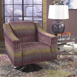 Signature Design by Ashley Sarai Multicolor DuraBlend Fabric Swivel Chair