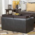 Signature Design by Ashley Hodan Marble Storage Ottoman