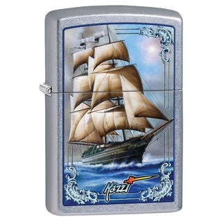Zippo Windproof Mazzi Blue Ship Lighter