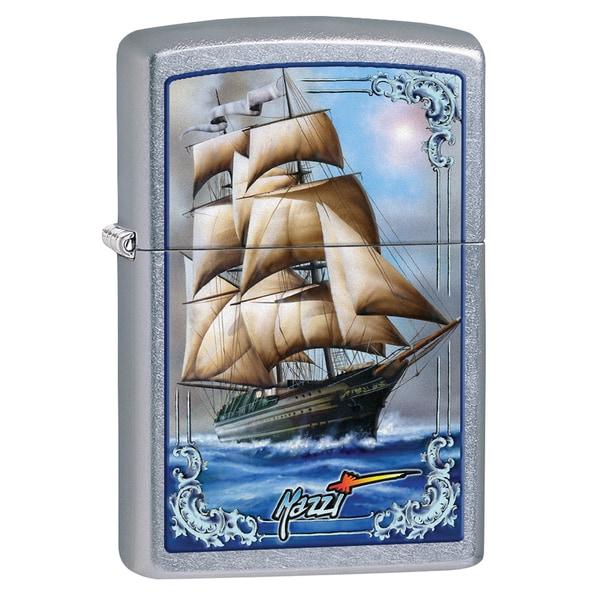 Zippo Windproof Mazzi Blue Ship Lighter