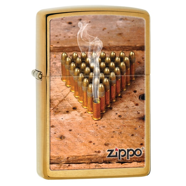 Zippo Windproof Brown Bullets Lighter