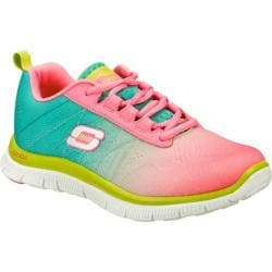 Women's Skechers Flex Appeal New Rival Hot Pink/Turquoise