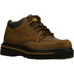 Men's Skechers Mariners Dark Brown Crazyhorse Leather