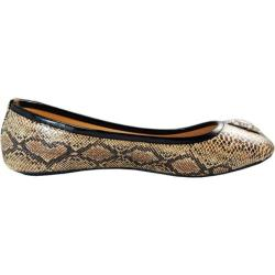 Women's Vecceli Italy BF-105 Light Brown Snake Faux Leather