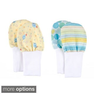 Crummy Bunny No Scratch Newborn Baby Mittens (Set of 2)