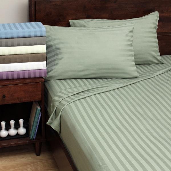 Luxury Manor Stripe 800 Thread Count Cotton Rich Sheet Sets