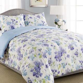 Laura Ashley Portia Traditional Floral 3-piece Comforter Set