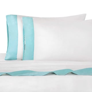 Echo Status Aqua Blue Deep Pocket Sheet Set