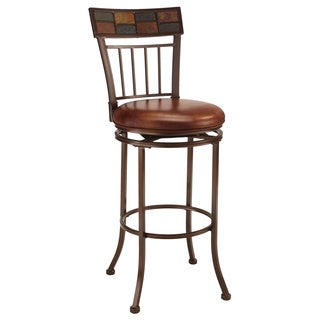 Montero Copper/ Brown Swivel Stool