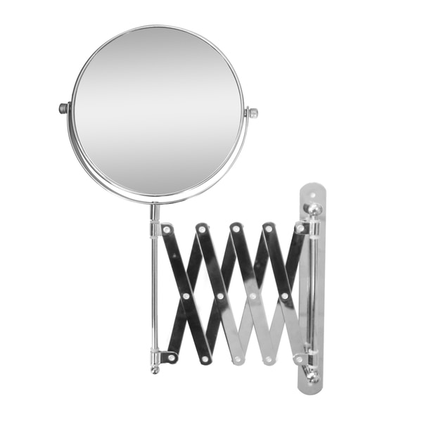 Extendable Wall Mount 2X Magnifying Makeup Mirror