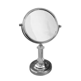 Free Standing Roman Pedestal 5X Magnifying Makeup Mirror