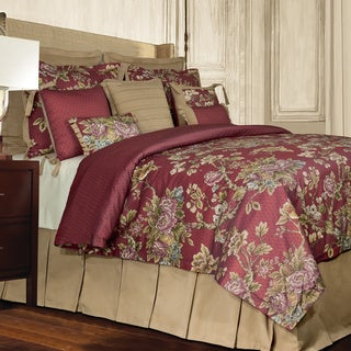 Rose Tree Preston 4-piece Traditional Red Floral Comforter Set