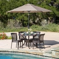 Christopher Knight Home Dusk Circular Outdoor Cast and Wicker 5-piece Set